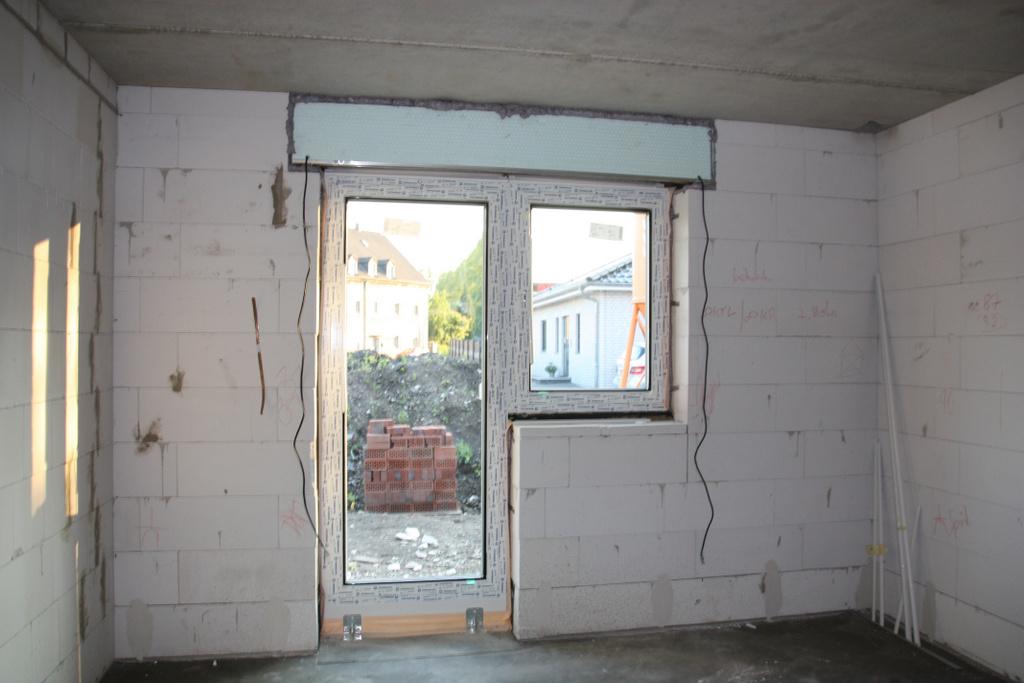 so sehen die fenster von innen aus am beispiel des k chenfensters bauheinis. Black Bedroom Furniture Sets. Home Design Ideas