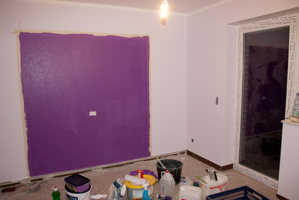 Emejing Wohnzimmer Ideen Wandgestaltung Lila Pictures - Home